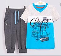Комплект для мальчика бриджи с футболкой