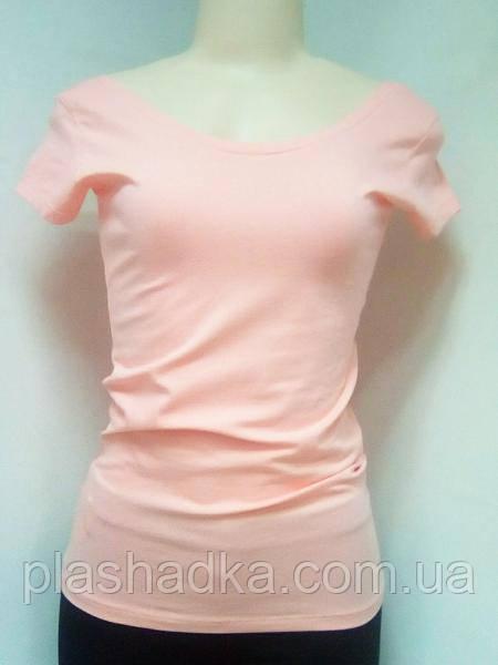 Летняя однотонная  женская футболка