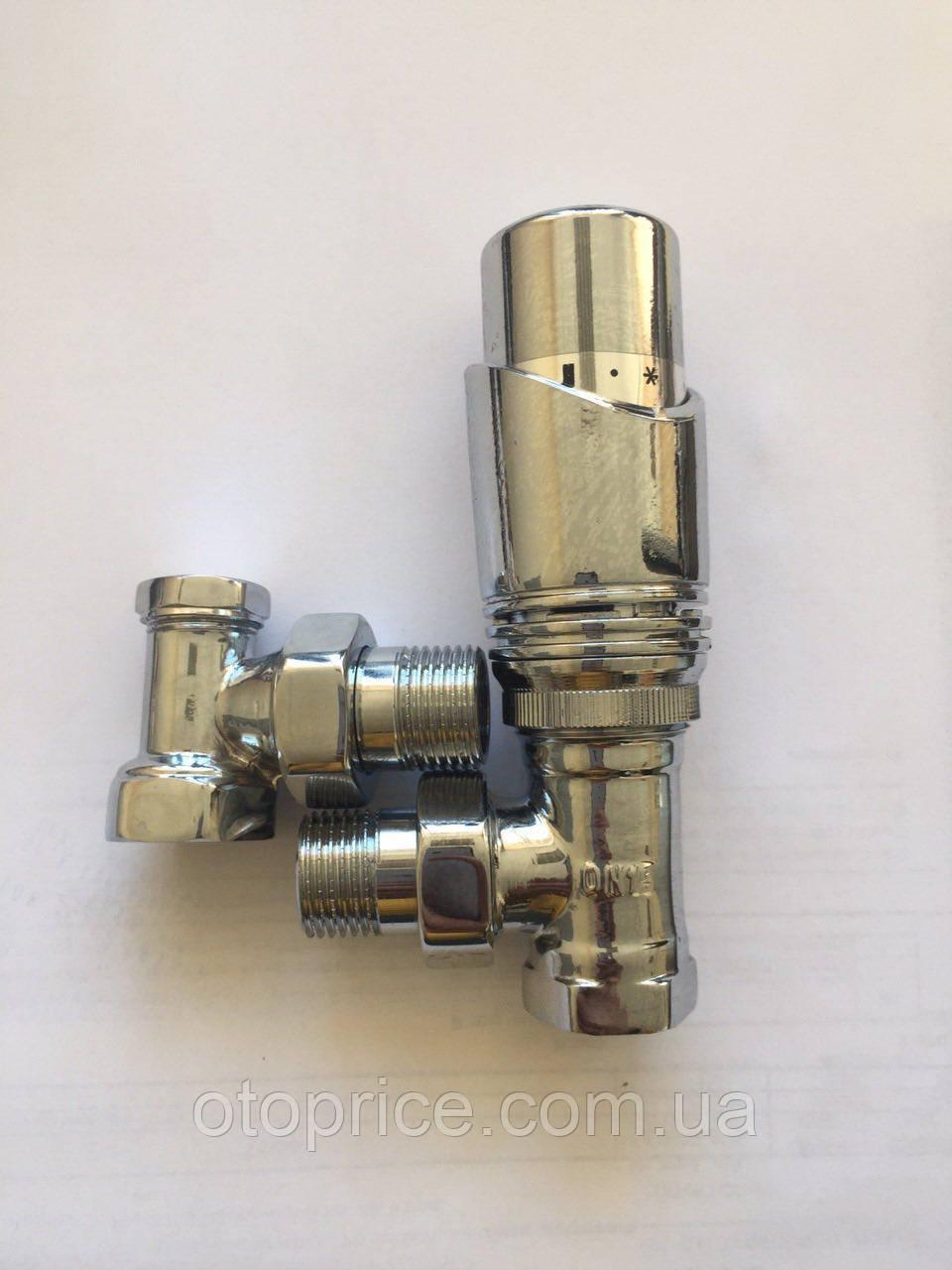 Радиаторный набор термостатический угловой хром Gross