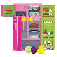 Игрушечный холодильник с продуктами Keenway 21х676, свет/звук, 31х19х13 см, пластик, для детей от 3 лет