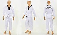 Добок кимоно для тхэквондо WTF МА-5467 (хлопок 65%, полиэстер 35%, р-р 00-3 (120-160см), 240 г на м2)