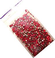 Конусные стразы, диаметр 3мм, цвет красный (250шт в упак)