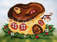 """Схема для частичной вышивки бисером """"Домик-грибочек"""""""