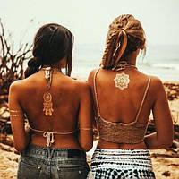 Временная татуировка Shimmer Metallic Jewelry Tattoos (флеш тату, переводные татуировки)