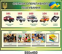 """Стенд """"Службы оперативного реагирования в Украине"""""""