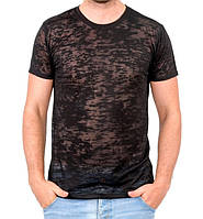 Черная летняя футболка мужская легкая трикотажная вискоза хб (Украина)