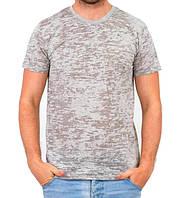 Серая летняя футболка мужская легкая трикотажная хлопковая хб (Украина)