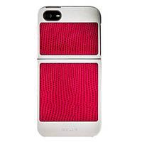 Чехол Classique IPHONE SE / 5S / 5 Серебро + розовый страус 7422