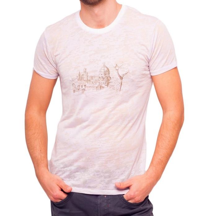Летняя футболка мужская тонкая трикотажная вискоза хб сиреневая Украина