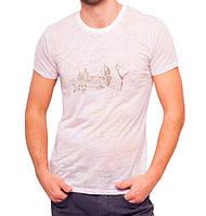 Летняя футболка мужская тонкая трикотажная вискоза хб сиреневая (Украина)