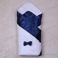 "Демисезонный конверт одеяло ""Beauty"" синий, фото 1"