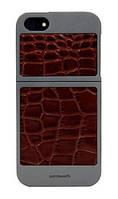 Чехол Classique IPHONE SE / 5S / 5 Титан + коричневая рептилия, 7426