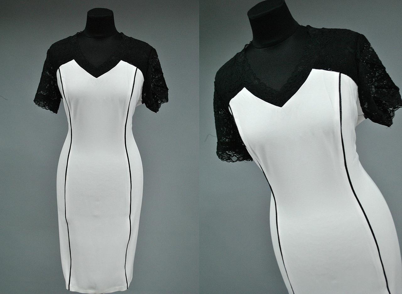 Стильное женское платье с гипюром 52, 56 батал