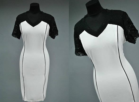 Стильное женское платье с гипюром 52, 56 батал, фото 2