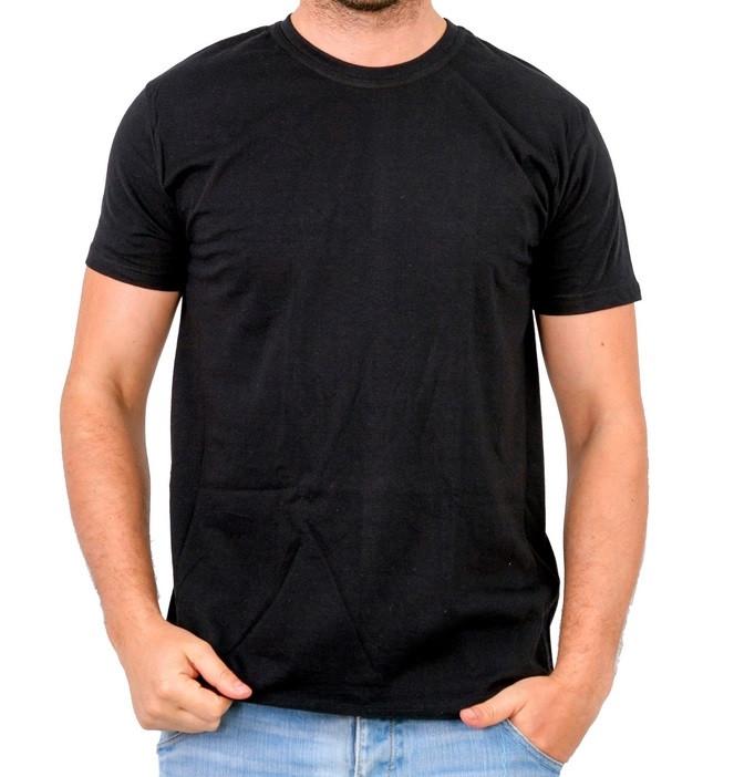 Черная футболка мужская спортивная летняя без рисунка трикотажная хб Украина