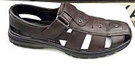 Босоножки-сандалии мужские кожаные большие размеры Uk0430