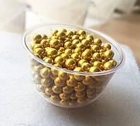 Шарики сахарные 7мм/золото, 1 кг (Италия)