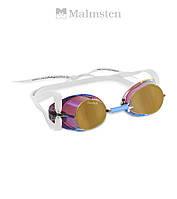 """Распродажа! Зеркальные очки """"шведки"""" для плавания Malmsten Metallized (Gold)"""
