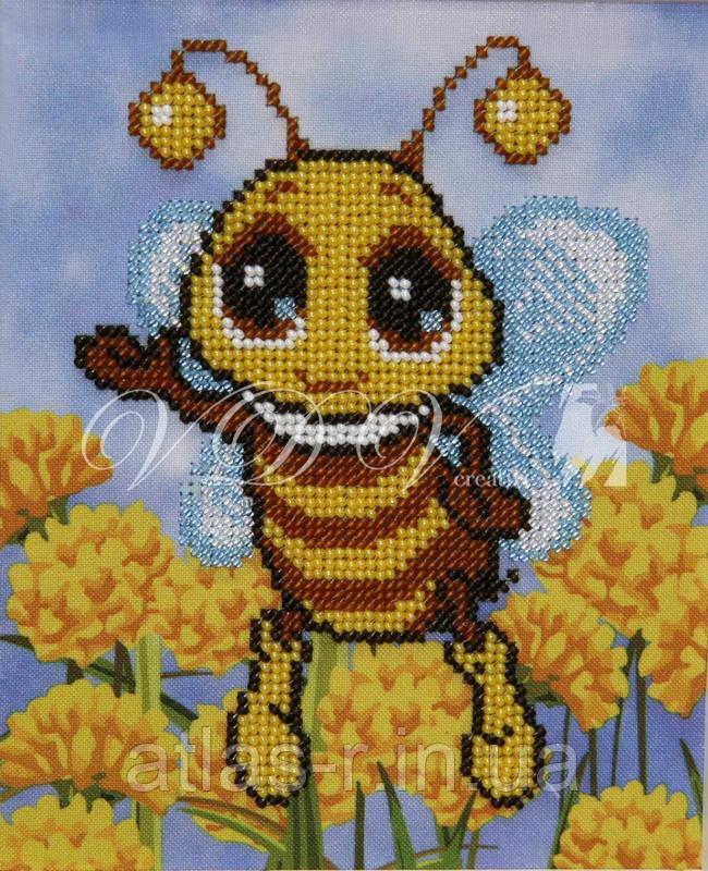 """Схема для частичной вышивки бисером """"Пчелка"""""""