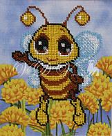 """Схема для часткової вишивки бісером """"Бджілка"""""""