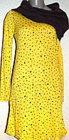Красивое желтое платье с воротником-хомутом. Англия