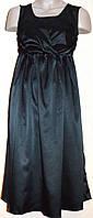 Черное атласное платье от английского бренда