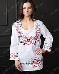 Женская вышиванка - туника Вита красного цвета