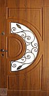 Двери входные со стеклопакетом и ковкой  ФОРТ НОКС 950*2050 ПРАВАЯ
