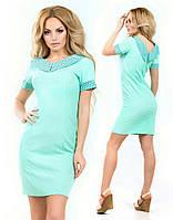 """Платье """"Лимонад"""" с коротким рукавом. Беж, синий, черный, мята"""