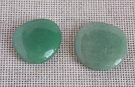 Авантюрин зелёный. Галтовка плоская