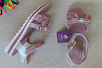 Розовые босоножки для девочки в полоску тм Том.м р. 36,37