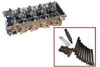 Головка блока Газель,Волга двигатель 405 с клапанами ,прокладкой и крепежем (пятиопорная)  (производство ЗМЗ)
