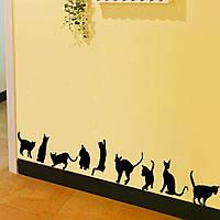 Наклейка виниловая Коты 3D декор
