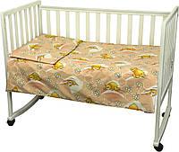 Постельное белье детское Сладкий сон, бязь РУНО (932.02_Персиковый)
