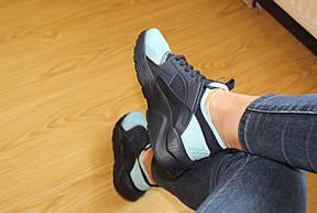 Женские кроссовки Nike Air Huarache черные с мятным 37р, фото 2
