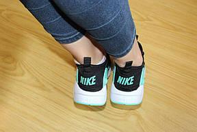 Женские кроссовки Nike Air Huarache черные с мятным 37р, фото 3
