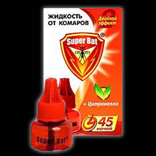 Супер Бат Жидкость для фумигатора от комаров и мух 60 ночей
