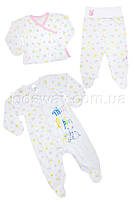 Комплект 3в1 для новорожденной девочки, летний