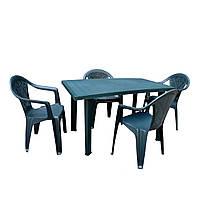 Комплект садовый Velo зеленый (стул - 4 шт)