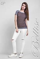 Легкая женская летняя кофта с коротким рукавом