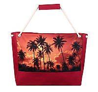 Сумка пляжная Sunset of a palm tree