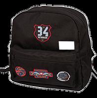 Школьный рюкзак zibi simple winner zb17.0606wr черный с нашивками