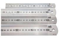 Линейка металлическая двусторонняя 150 мм