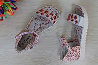 Подростковые босоножки для девочки с красными камням тм Том.м р. 32,34,36,37