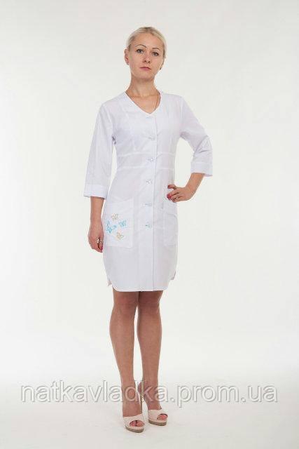Женский медицинский халат белый р.42-52, фото 1