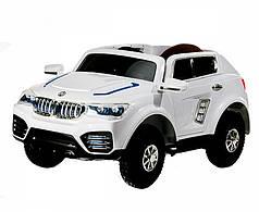 Детский Электромобиль Джип BMW KD 103 белый на надувных колесах, пульт управления