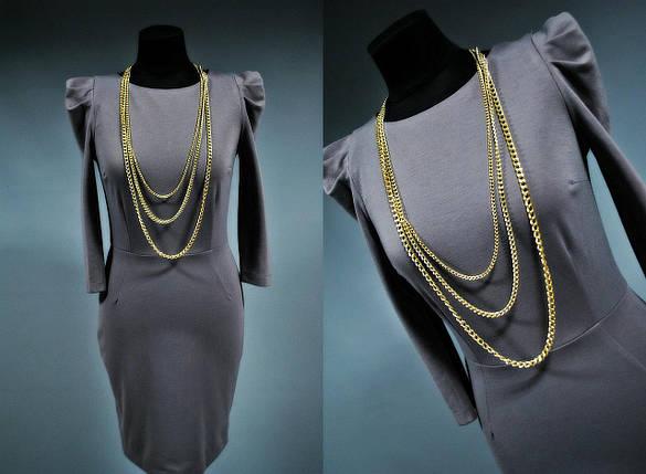 Женское платье с бусами, Французский трикотаж, Турция, фото 2