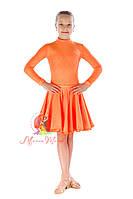 """Рейтинговое платье """"Греция"""" (1234/1) оранжевое"""