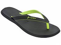Мужские вьетнамки Rider R1 Black/Green 10594-23749