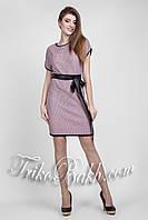 Стильное вязаное платье - туника